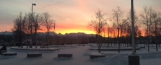 A Dimond Winter Sunrise