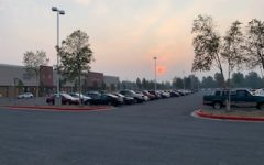 Red Sun Rises over Smoky Dimond
